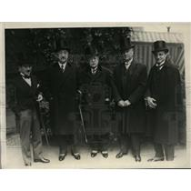 1928 Press Photo Carlos Davila Chilean Ambassador, Velarde of Peru, Quesada Amb