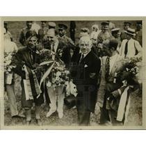 1927 Press Photo Lt Colonel Skala Pilot & Czech Minister in Tokyo Japan