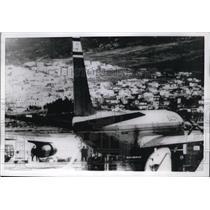 1969 Press Photo El Al Esraeli Jet liner parked at Athens Greece Airport