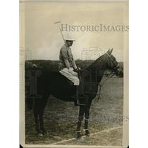 1928 Press Photo King Alfonso of Spain on his polo pony in Madrid - neb38680