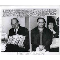 1968 Press Photo Paul Hayman arrested by US Secret Service for counterfitting