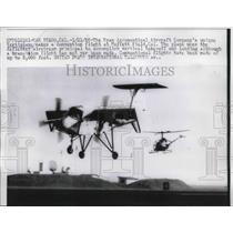 1958 Press Photo Ryan Aeronautical vertiplane makes convention flight