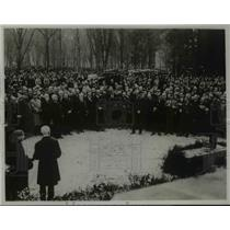 1922 Press Photo Armistice Memorail Unveiled at Compiegne by French President