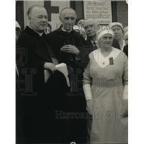 1919 Press Photo Cardinal Mercier at Hospital - ney00356