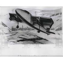 1956 Press Photo Artist conception of Ryan Vertiplane - neb39604