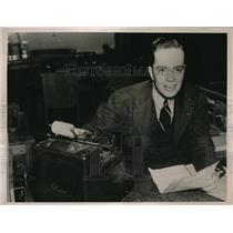 1939 Press Photo Rowell Talley of Birmingham Alabama wins Movie Quiz contest