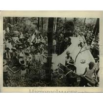 1926 Press Photo Japanese Boy Scouts at Mikasa-yen Near Yokohame