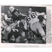 1962 Press Photo Tom Moore of Packers, Charlie Krueger & Carl Kammerer of 49ers