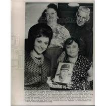 1962 Press Photo Angels Bo Belinsky Family, Millie Polnoff, Edward Belinsky
