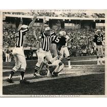 1975 Press Photo Bengals Lanvil Elliott gets TD vs Raiders in Oakland CA