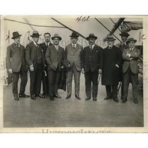1925 Press Photo Italian Facisti delegation arrives on the Duilio for conference
