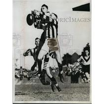 1934 Press Photo Australia rugby game of South Melbourne vs Collingwood