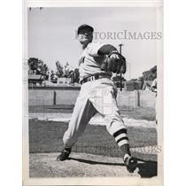 1946 Press Photo Randy Heflin Red Sox pitcher at Sarasota Florida training