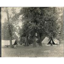1919 Press Photo Camping At Mooseheart III