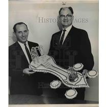 1969 Press Photo Otto Garcea with Co-chairman Don. C. Dagman - spa06292
