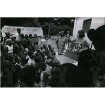1969 Press Photo Peace Corps volunteer Marie Ades in Goda, Ivory Coast