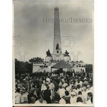 1932 Press Photo Civil War veterans at 66th annual Encampment at Lincoln's Tomb