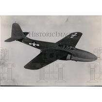 1957 Press Photo Jet fighter airplane  - spx03496