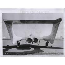 1953 Press Photo A De Havilland 110 plane seen from rear view on a runway