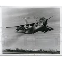 1967 Press Photo A-7 Corsair II heavily loaded from LTV Aerospace Corp plant