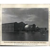 1939 Press Photo 60 Ft Steel Sphere Housing NACA Wind Tunnel - ney01107