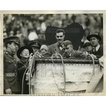 1929 Press Photo WT Van Orman, Alan McCracken & basket from balloon flight