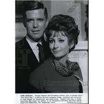 1965 Press Photo George Peppard and Elizabeth Ashley in The Third Day