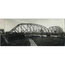 1921 Press Photo View of the Bridge at Sixaola, Panama - neb63160