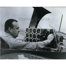 1967 Press Photo Single Engine BD-2 Cruise Plane checked by James R Bede pilot