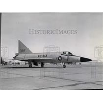 1957 Press Photo F102 fighter airplane  - spx03458
