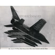 1957 Press Photo Blue Angels US Navy Flight Demonstration - spx03274