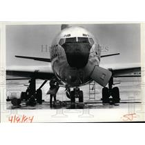 1984 Press Photo AKC-135 jet tanker bomber  - spx03682