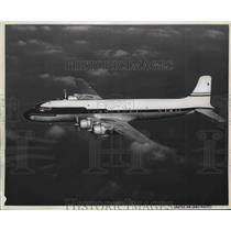 1954 Press Photo United Airlines new DC-7 Mainliner in flight - neb40122