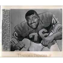 1965 Press Photo Roosevelt Grier of Los Angels Rams Big Eater and Drinker