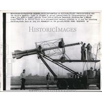 1957 Press Photo Flight information relayed to ground transmitters - neb42697