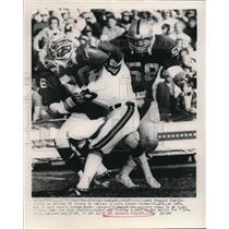 1975 Press Photo Bengals Charlie Joiner vs Raiders Alonzo Thomas, M Johnson
