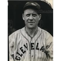 1936 Press Photo Wally Schang Cleveland Indians Coach  - cvs01645