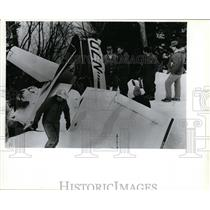 1987 Press Photo Airplane Ax Brockett Karstetter - spx03041