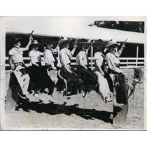 1934 Press Photo California Rodeo in Salinas Harriett Hood & others - nes45037