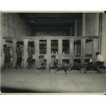1922 Press Photo Central High School of DC students on the rifle range