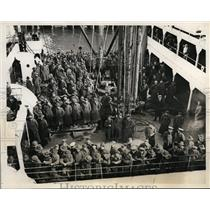 1934 Press Photo Army Transport Chateau Thierry Leaves Army Base Pier Brooklyn