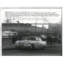 1957 Press Photo Negro Students Come to Central High School Little Rock in Cars