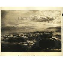 1934 Press Photo cloud formation over New York taken from Sky Chief TWA airlines