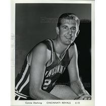 Press Photo Cinncinati Royals basketball player Connie Dierking - nes45452