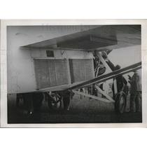 1932 Press Photo Radiators on fuselage & under wings of a plane