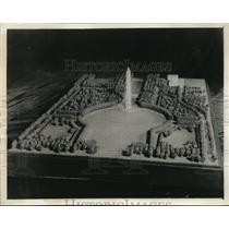 1932 Press Photo Model of Formal Plan for Gardens at Base of Washington Monument