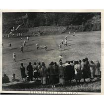 1931 Press Photo Girls field hockey Bryn Mawr vs All Philadelphia