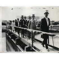 1932 Press Photo Earl of Bessborough Richard Bennett Welland Canal Open Ontario