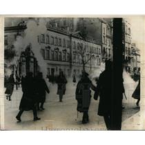 1931 Press Photo Demonstration in Warsaw by Polish Democratic Youth Party