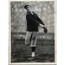 1930 Press Photo Ben Tieknor at Harvard baseball team - nes46172